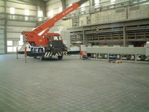 Protiskluzná podlaha kovárny