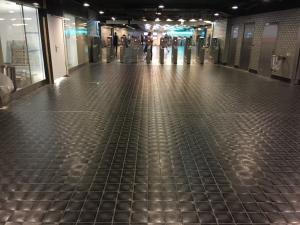 Metro Paris - basalt tiles